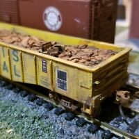 Athearn HO scale Illinois Terminal 50'  weathered Gondola freight car & load
