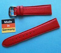 Uhrband 20/16mm rot Kalbsleder  von Kaufmann Made in Germany
