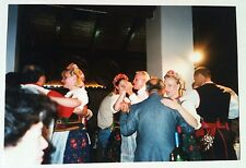 Vintage Photography PHOTO TRADITIONAL GERMAN DINNER GIRLS DANCING WITH VISTIORS