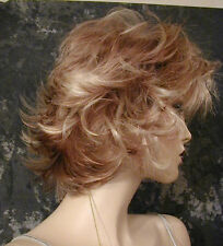 ~Strawberry and Blonde Highlighted Mix Spikey WIG WIGS MODERN