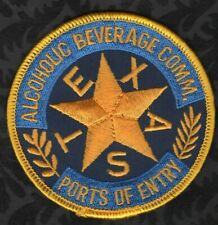 Texas Alcoholic Beverage Comm. Ports Of Entry Patch  VR2