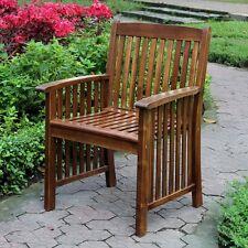 International Caravan Highland Set of Two Acacia Denver Arm Chair, Brown