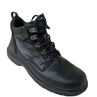 Clarks Men's Gore-Tex Ankle Boots Size 9.5M Black Leather Lace Up Chukka Shoes