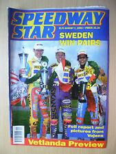 SPEEDWAY STAR 7 August 1993- SWEDEN WIN PAIRS, Vetlanda Preview