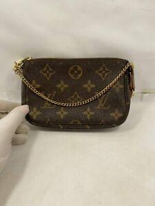 Authentic Louis Vuitton Mini Pochette Accessoires Monogram Pouch M58009