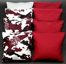 Cornhole Bean Bags made w Texas A&M University Aggies Camo Fabric 8 Aca Bags