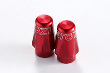 2X ATOZI Bicycle Bike Cycle Tire Presta Valve Cap French Type Stem Tyre - Red