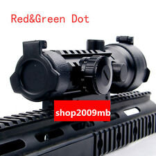 Red/Green Dot 2x42 Triple Optic Scope Sight 20mm Rail Mount For Rifle Hunting
