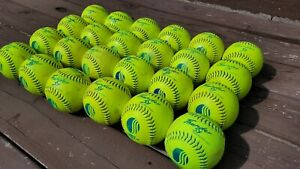"Two Dozen (24) USSSA Men's 12"" Softballs - Dudley Thunder SX -  Used"