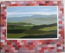 "GERALDINE RICHARDS AUSTRALIAN OIL ""LANDSCAPE OVER GRID"" 2013"
