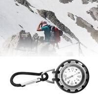 Unisex Outdoor Luminous Quartz Belt Watch Clasp Backpack Clip on Carabiner Nett