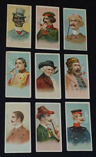 1888 - ALLEN & GINTER CIGARETTES - WORLD'S SMOKERS (N33) SERIES - CARDS (9)