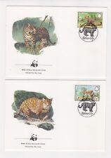 1983 Belize WWF Endangered Species SG 756/9 Set four FDC or Fine Used