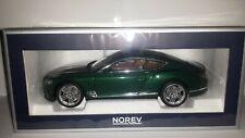 Norev 1:18 Bentley Continental GT 2018 Verdant metallic nieuw in verpakking