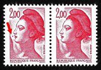 """Timbres France Neufs Marianne 1983 N°2274 Variété """"Point devant la bouche"""""""
