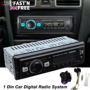 1 DIN Car Stereo DAB Radio MP3 Player Bluetooth USB AUX IN SD FM Head Unit EQ