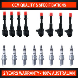 Pack of SWAN Ignition Coils & NGK Iridium Spark Plugs for Honda Jazz (1.3L)