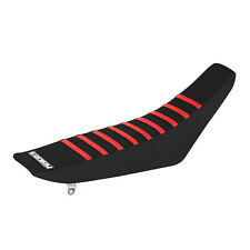 Honda CRF150F 150 F Seat Cover Ribbed Gripper Black with  Red Ribs 2003 - 2019