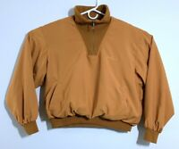 Jack Nicklaus Mens Golf Brown Orange Half Zip Long Sleeve Pullover Jacket 100