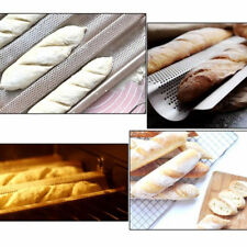 Baguette Baking Tray Perforated French Loaf Baking Molds Pan Silver 2 Gutter