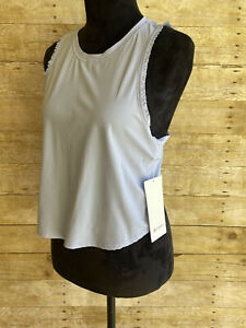 NWT Lululemon Fast As Light Frilly Muscle Tank Top Size 6 Lavender Dew Yoga Gym