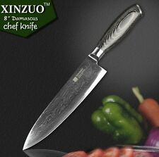 "XINZUO 8""inch stainless steel chef knives high quality Japanese VG10 Damascus H"