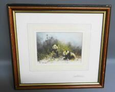 David Shepherd CBE, Print Pandas of Wolong, Personally Signed twice with message