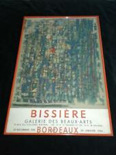 ART MID CENTURY French Roger Bissiere 1960'sGallery Poster w. Orig, Frame