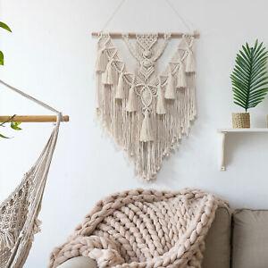Bohemian Macrame Wall Hanging Art Cotton Cord Braids Wall Hanger 28''x22''