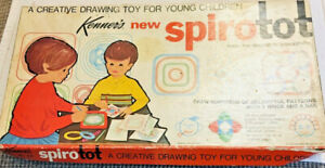 Kenner's SpiroTot Creative Drawing Toy Young Children Original Box & Parts 1968