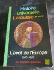 10935 L'éveil de l'Europe – 1000-1250 par Bernard Guillemain – Larousse de poche