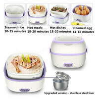 Hot 🔥🔥 Portable Electric Lunch Steamer Box Student Dormitory Rice Cooker   *