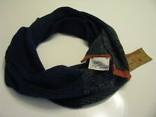 NWT  True Religion Brand Jeans Men's Ribbed Scarf Navy Blue  Neck Wrap Uni