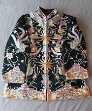BEAUTIFUL!!!  Chinese Wedding Robe Embroidered metallic thread