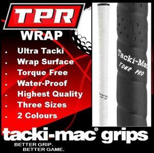TACKI-MAC TPR WRAP 60R STANDARD MIDSIZE GOLF GRIP BLACK WHITE NEW