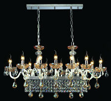 12 Arms Crystal Chandelier Ceiling Fixtures Dining Table Light Pendant Lamp