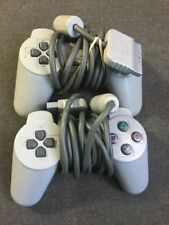 LOT of 2 Sony Playstation 1 PS1 Official OEM Gray Wired Controllers SCPH 1080