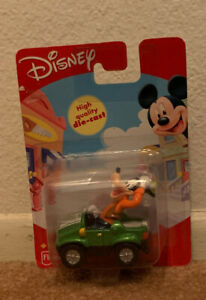 Fisher Price Disney Goofy Die Cast Car Vehicle 2000 MISP Cake Topper
