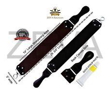 "26' 3/4"" Long Barber Leather Straight Razor Strop Strap Sharpening & Dovo Paste"