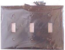 Box of 10 Sylvania Triple Gang Brown Switch Wall Plate 2803 Usa #6ul