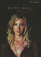 Faith Hill CRY Piano * Vocal * Chords Sheet Music Instruction Paperback