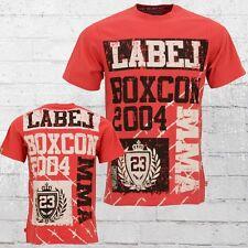 Label 23 hombres t-shirt MMA rojo señores tshirt Men's té rojo
