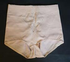 Vintage Damen Unterhose Panty Pant Mieder hautfarben Blumenmuster Größe 75
