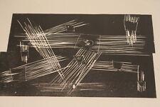Alwin Carstens 60er Konstruktivismus Zeichnung Druck Abstrakt Expressionismus