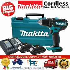 Cordless Driver Drill Makita Compact Tool Combo Kit Lithium Battery w/ Charger