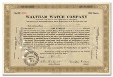 Waltham Watch Company Stock Certificate