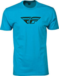 Fly Racing ADULT F-wing Tee Shirt Turquoise Mens Size 2XL XXL
