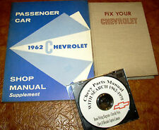 1962 Chevrolet Car Shop Manual Book & Parts Biscayne Impala Bel Air Sport Coupe