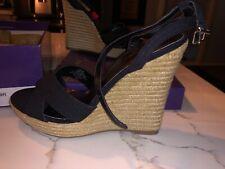 Madden Girl Viicki Women US 8 Black Wedge Sandal