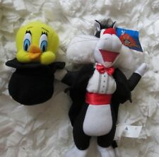 Warner Brothers ACE Sylvester And Tweety Magic Hat Plush, 1998